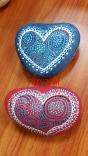 2 לבבות כחול ואדום