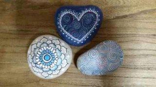 סט אבנים - מנדלה לב וספירלות