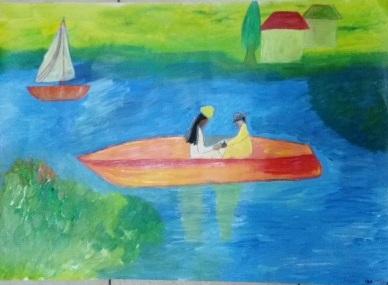 ציור בבת גלים 10