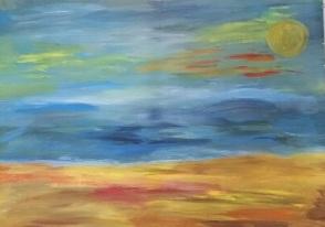 ציור בבת גלים 4