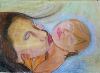 ציור בבת גלים 5